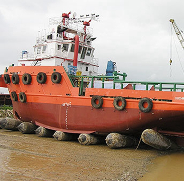 marine rubber floating airbag for ship launching landing